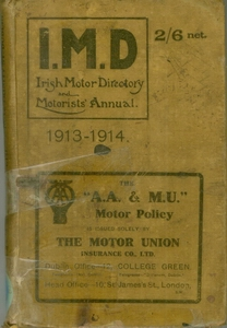 Irish Motor Directory and Motorists' Annual 1913-1914, cover