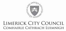 The Limerick City Crest Centered in Black and White