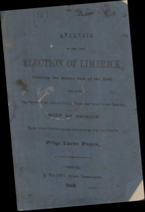 Cover, Analysis of the Late Election of Limerick, 1852
