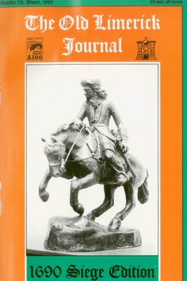 Cover of Old Limerick Journal, vol. 28