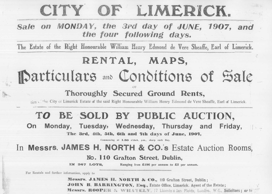 1907 'Sale of Limerick' title page